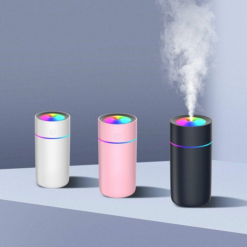 Bunte Lichter USB Luftbefeuchter für Home Office 320ml Aroma Diffusor ändert LED Air Vaporizer Auto ätherisches Öl Aromatherapie Diffusor