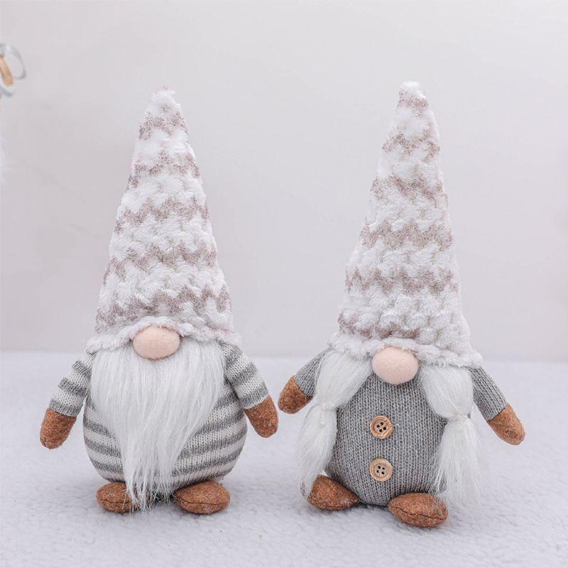 Navidad hecha a mano sueca Gnome muñeca de Santa felpa Permanente Estatuilla Juguetes regalo de Navidad del partido de los ornamentos Casa