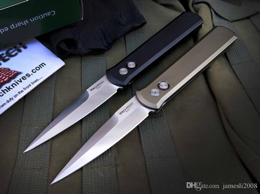 Protech крестный отец 920 одинарного действия тактической самообороны складной охотничий нож карманный EDC Походный нож охотничьи ножи подарок Xmas 3300 3100
