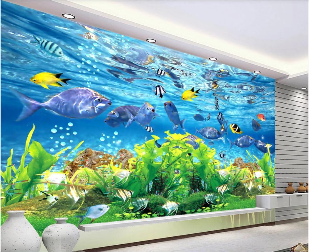 3d комната wallpaer пользовательских фото Фреска The ясной 3D фоне стены подводного мира в стране обои для стен 3d