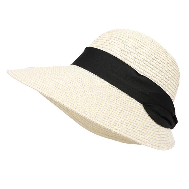 Женщины Большой Широких кра отдых Стро Cap отдых Подарки Открытой Защита от ультрафиолетовых лучей Пляжи Складных Элегантного ВС Hat Summer Sunproof