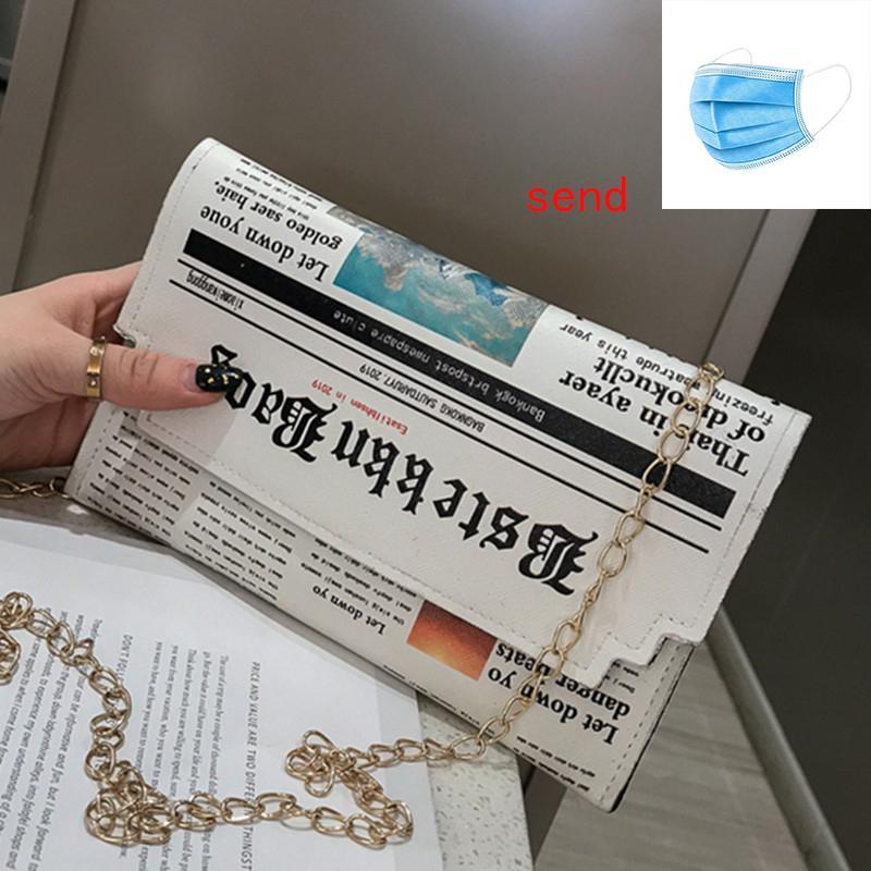 Vente Hot journal Enveloppe Messenger Sac bandoulière Pu Femmes Mode Sacs à main Pochette horizontale épaule chaîne bourse Paquet