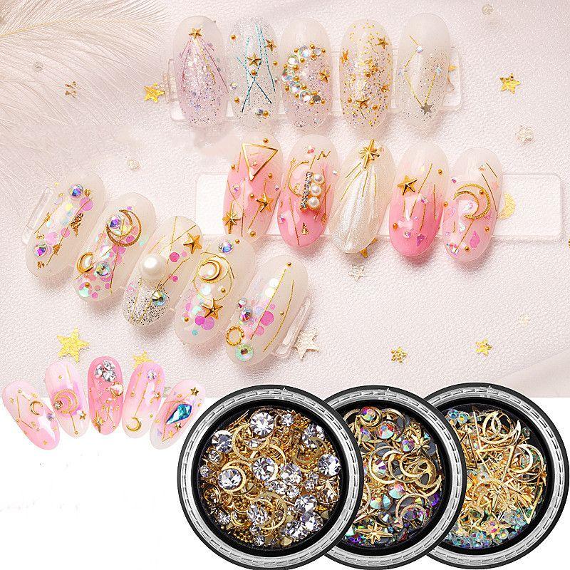 Gioielli decorazione di arte chiodo della Rosa 3D Cristalli Strass fai da te gemme Pietre Mix di Charme gel del chiodo di scintillio delle decorazioni della decorazione di punte