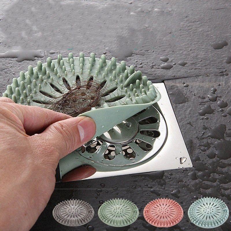 Filtro capelli anello moda del gel di silice filtro anti intasamento del filtro di copertura lavello della cucina fogna schermo WC stagno del bagno di anti intasamento T3I5800 ex1L #