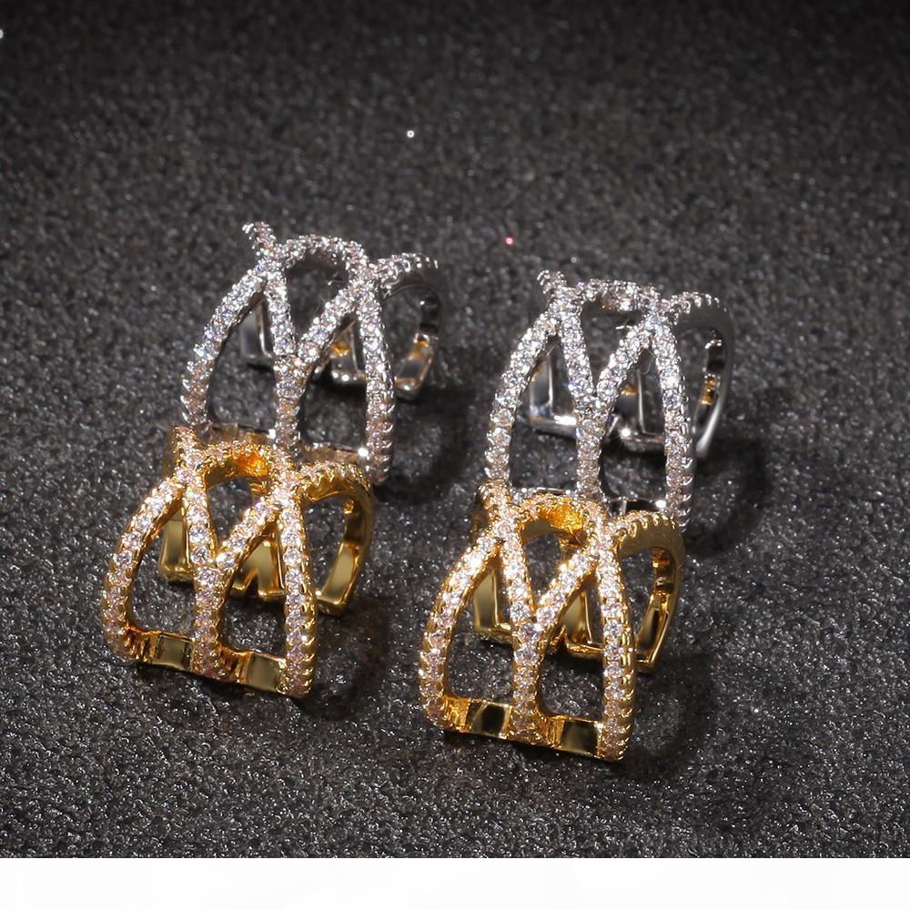 Hip Hop Cruz Geometria clipe de orelha osso Moda e simples Hip Hop Acessórios