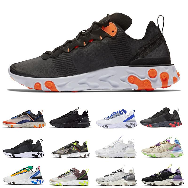 Best Total Orange men React vision Chaussures type N354 Gore-Tex element 55 87 Running Shoes Solar Red Bred mens wholesale athletic shoes