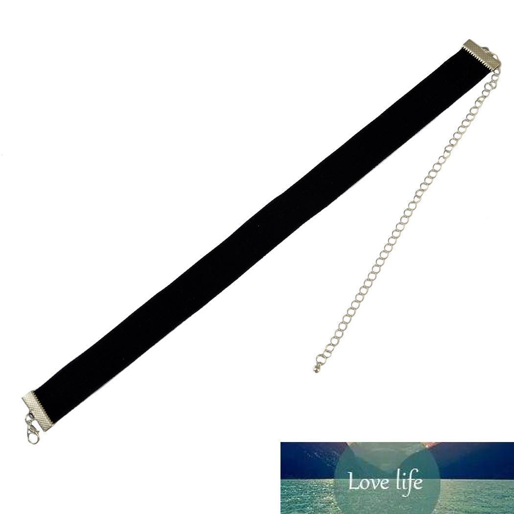 Gotik Kore Moda Siyah Naylon Halat Bildirimi gerdanlık kolye zinciri ayarlanabilir 29 cm 18 cm olan