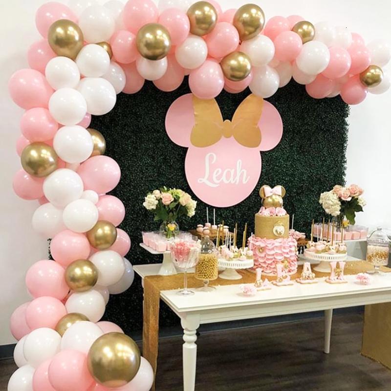 112Pcs DIY Balão Garland Kit Arch Set rosa balões para bebé O chá de panela de fundo decoração festa de aniversário do casamento