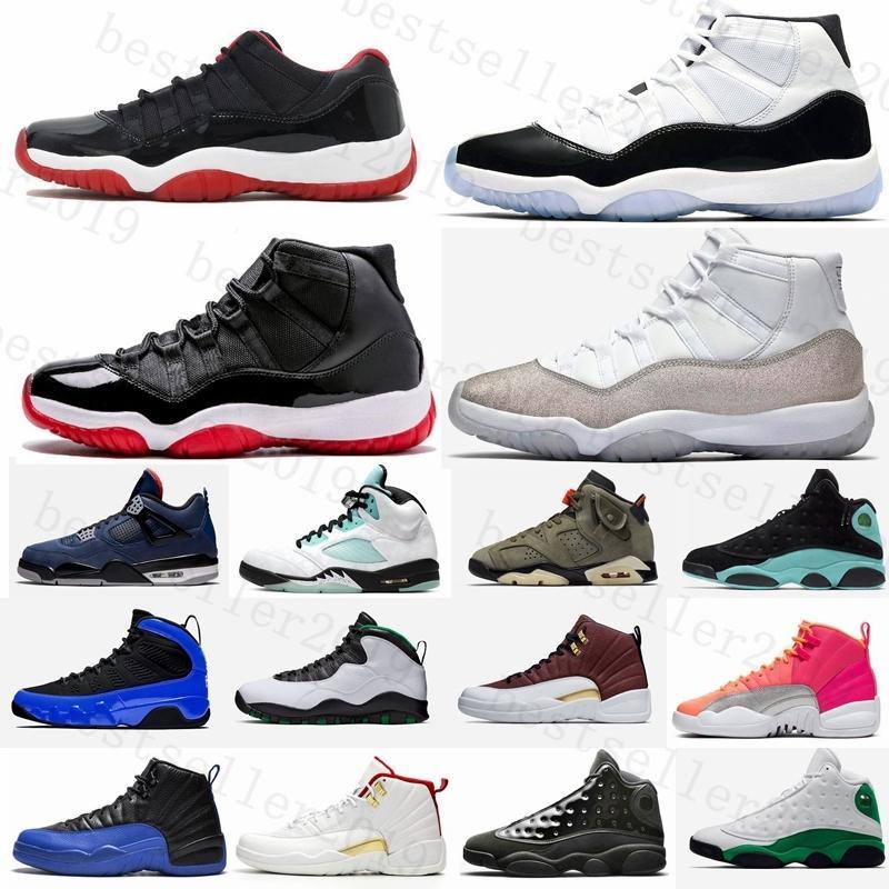 2020 Баскетбол обувь кроссовки мужские 11s Бред Металлическое серебро 4s 5s 13s Island Green 9s 10s 12s Горячий пунш Chaussure De Basket Шаровые