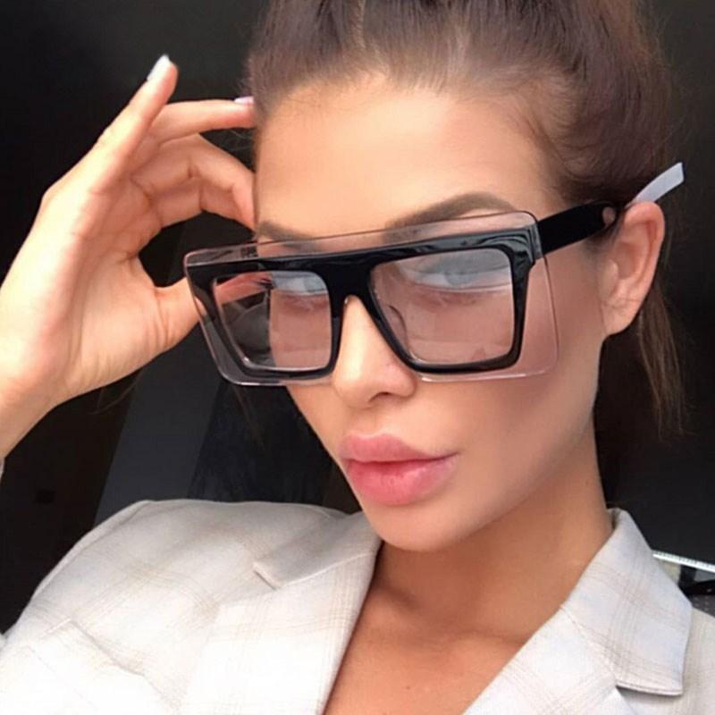 Vintage surdimensionnée soleil lunettes de soleil lunettes de soleil lunettes Gafas lunettes femmes lunettes vertes hommes grand cadre femme nuances carrée xjwmu