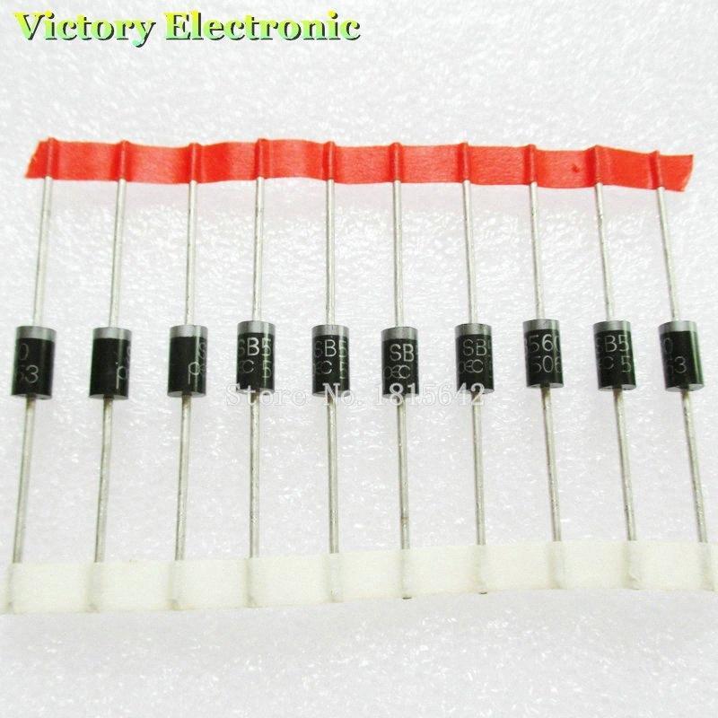 20PCS / Lot SR560 SB560 rectificador de diodos 60V 5A original Nueva 3fks #