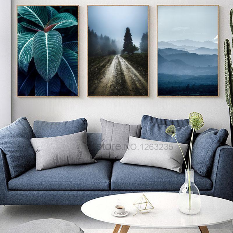 Póster Nórdico con estampado de plantas, cuadro sobre lienzo para Pared, Cuadros, carteles con hojas, imágenes Pared para sala de estar peccato