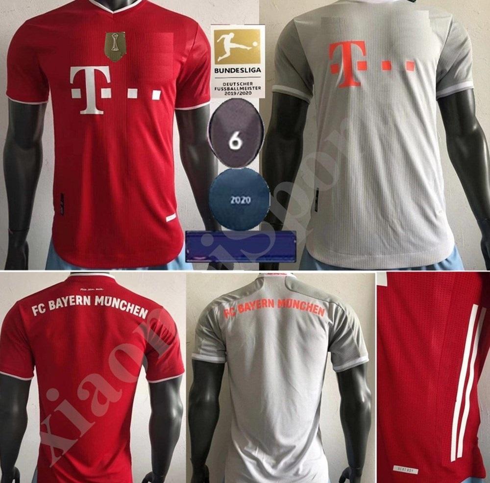 2020 2021 Bayern Munich maillot Joueur de football Version MULLER Accueil 20 21 football shirt LEWANDOWSKI football uniforme