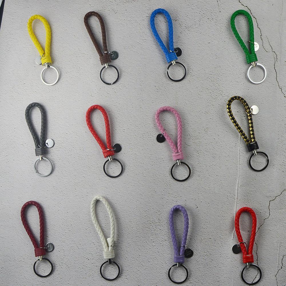 Sac à main Pendentif Porte-clés Porte-voitures Porte-clefs métal Hommes Femmes 40 couleurs en cuir tressé porte-clés en métal tressé Porte-clés de corde TQQ BH1545