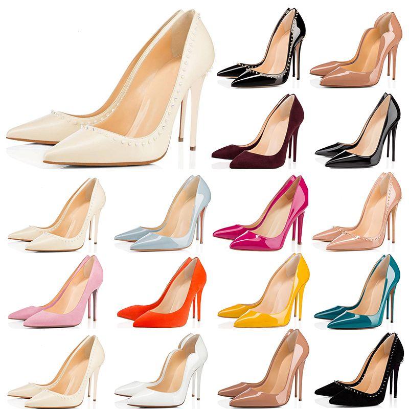 Cheap Women Red Bottom Heels Shoes 8cm