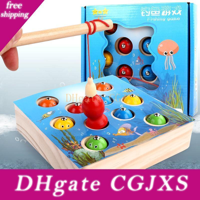 Magnetic Fishing Games 3d Fish Baby Kids Early Educational Toys Outdoor Funny Boys Girl Children Wooden Toys