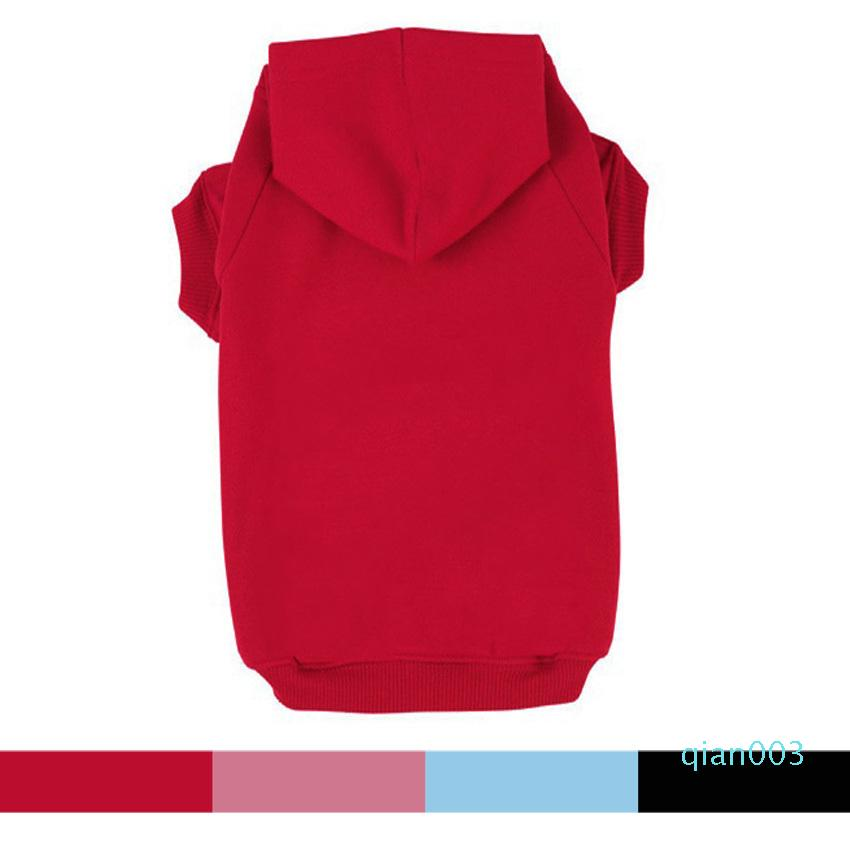 Free Shipping Black Blue Red Pink Blank Pet Puppy Dog Clothes Hoodies Jumpers Tracksuits for Chihuahua Teacup Care or Large Dogs