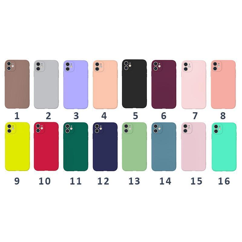 Slim Matte Soft TPU-Hülle für iPhone 11 PRO MAX XS XR S Ultra Thin Plain Luxury Phone Cover Handy Schutz Cafee