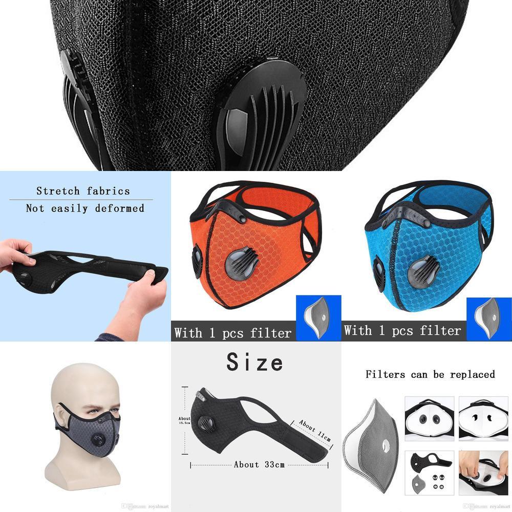 JQZA Sun traspirante Ciclismo Maschera Haze-proof antipolvere della mascherina protettiva uomini e donne di sport esterni accessori per la casa con filtro