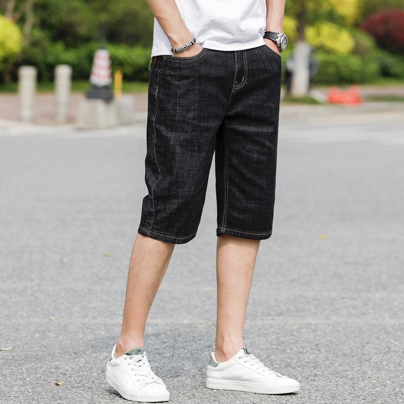 JaJ4r джинсовые летние джинсы и свободные брюки Капри тонкий стрейч джинсовой средние брюки брюки мужские и джинсы мужские