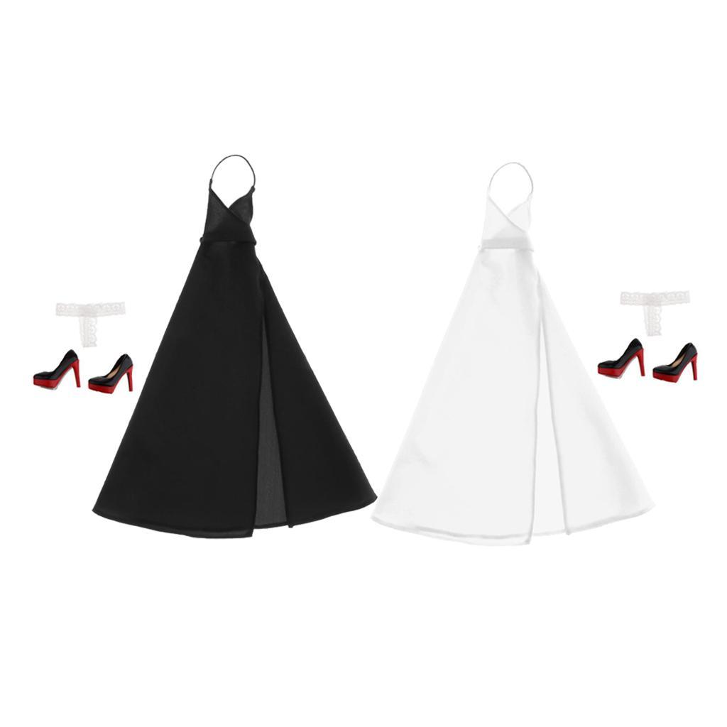 2Pcs 1:6 Scale Female Briefs Underwear for Hot Toys////Kumik Figures Black