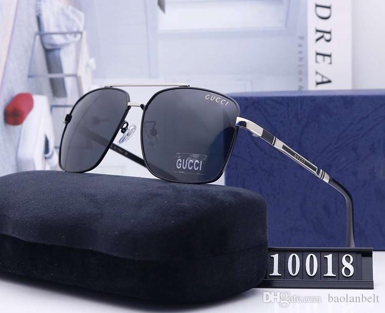 Tasarımcı Pilot Güneş gözlüğü Erkekler Sürüş Sunglass Polarize Büyük Çerçeve Womens Moda Marka Güneş Gözlükleri Karşıtı yorgunluk Mavi Işık 81841