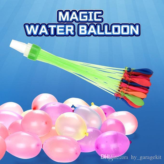 Летняя и волшебная маленькая вода быстрая вода мальчики на открытый воздушный шар бороться с маленькими игрушками воздушный шар странные девушки игра VHOTL