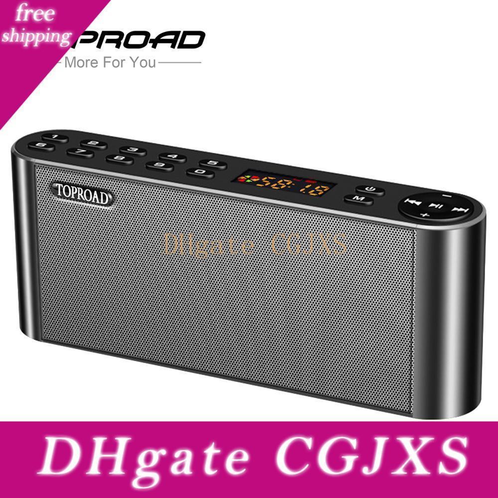 Toproad Hifi Bluetooth-Lautsprecher-beweglicher drahtloser Super Bass Doppellautsprecher Soundbar mit Mic Tf Fm Radio-USB-Sound-Box T190704