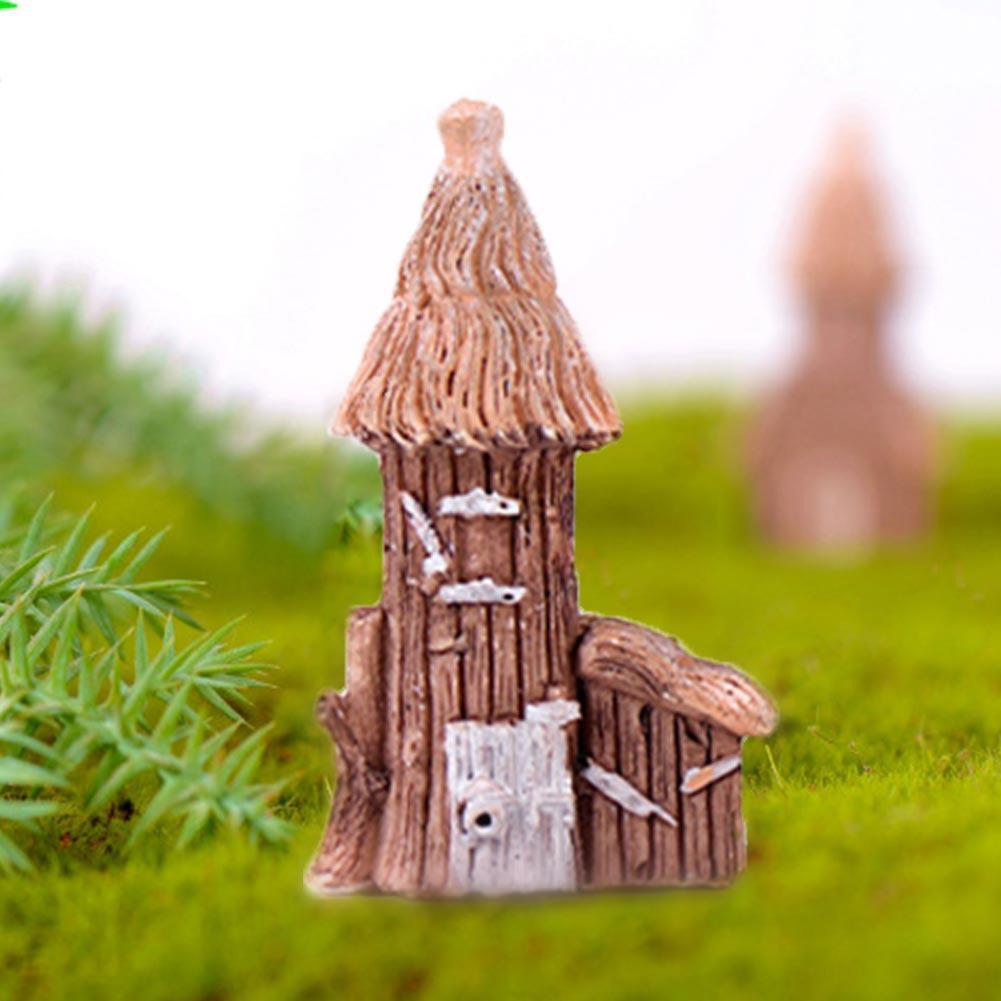 Castillo Mini Micro paisaje Adornos Decoración DIY hierba decoración de la casa