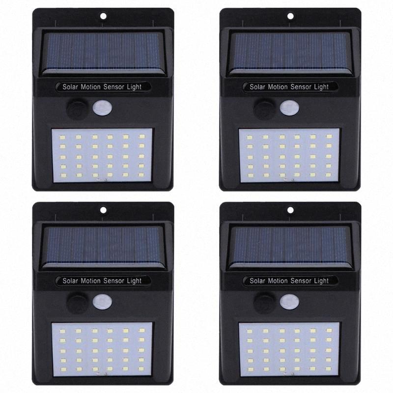 Solarlampen Wasserdichtes IP65 Leistung PIR Bewegungs-Sensor-LED-Garten-Licht-im Freien Pathway Sense Solar Außenwandleuchten pkyW #