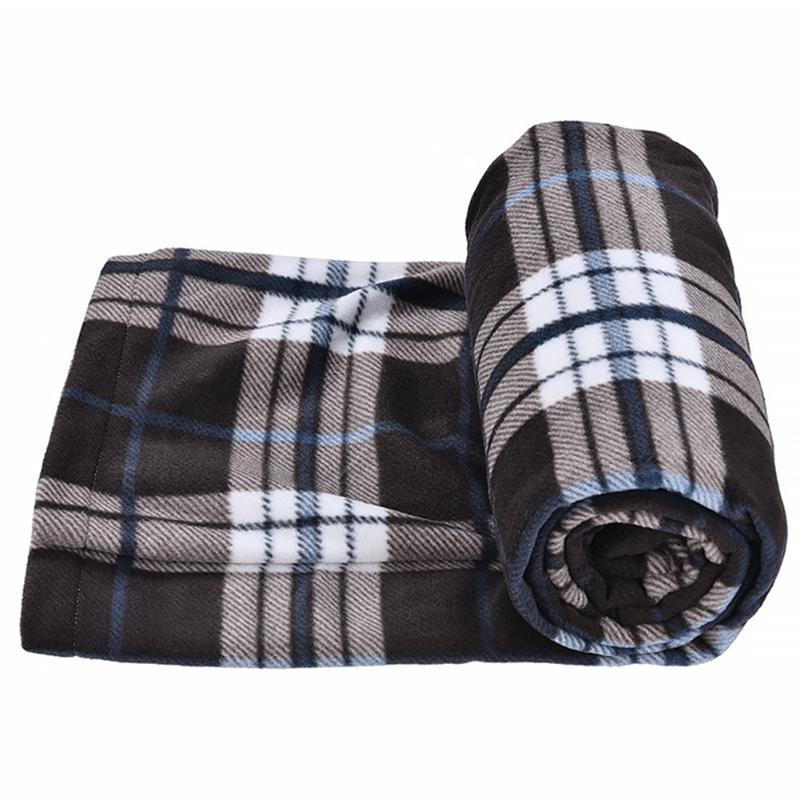 Travel Liner Spring Soft Camping Portable Polar Fleece Ultralight Blanket Sleeping Bag Outdoor With Storage Pouch Winter Warm