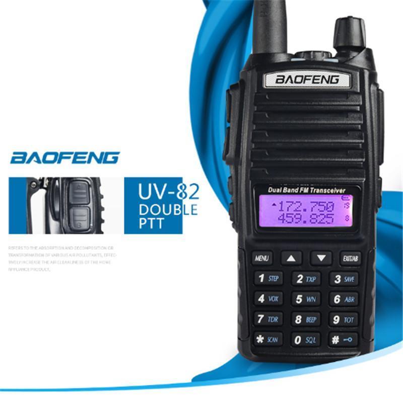 Cgjxs Baofeng UV -82 Walkie Talkie UV 82 Taşınabilir Radyo Cb Ham Radyo VHF UHF Dual Bant Uv82 Radyo İki -Way Transceiver