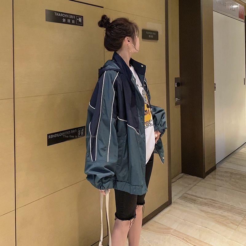 autunno 2020 cappotto alla moda alla moda nuovo stile breve cappotto allentato dimagrante con cappuccio giacca a vento Giacca a vento coreana alto c di c94mc fPLth Donne