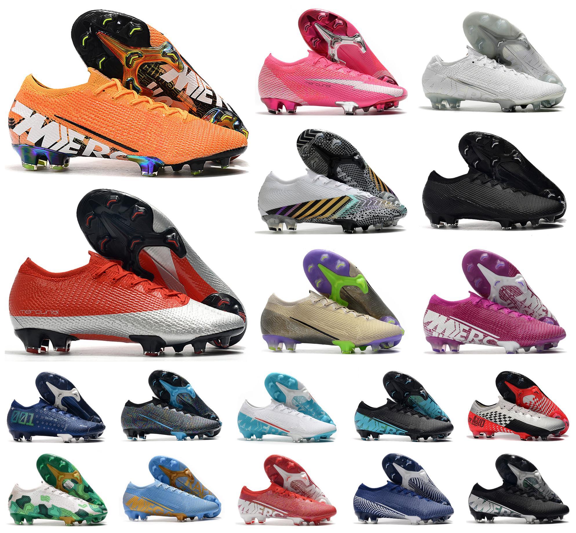2021 رجال VA POR XIII Elite FG Low 13 Rosa Panther MDS 003 CR7 رونالدو 360 بنين كرة القدم أحذية كرة القدم أحذية US6.5-11