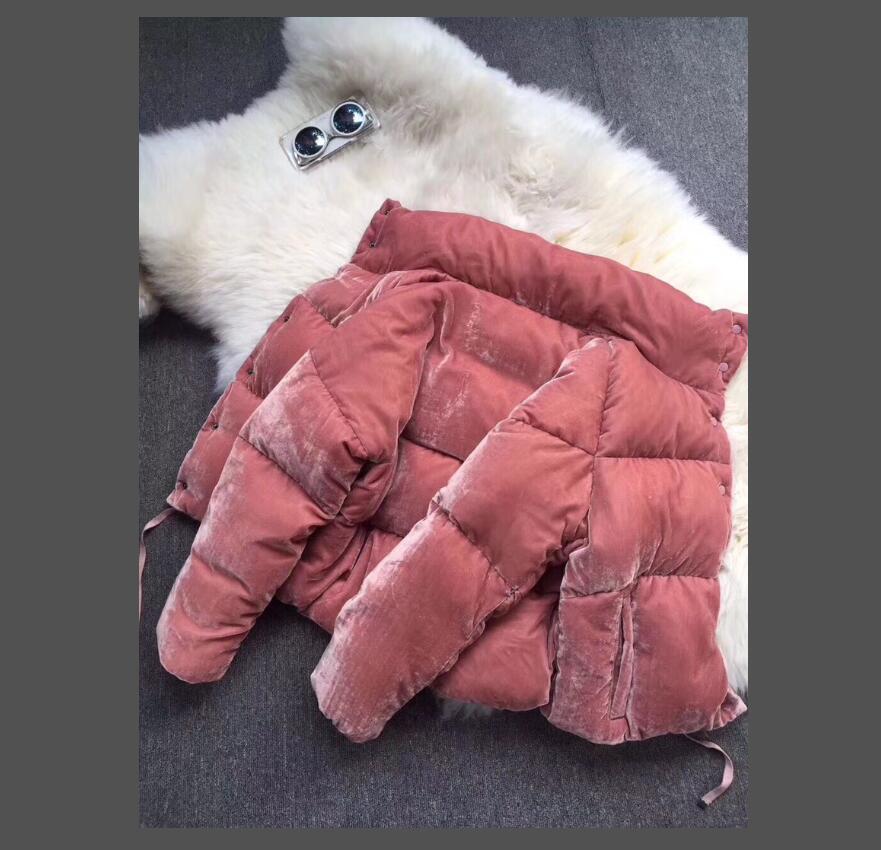Donne Stand Collar Down Parkas Stile breve Inverno Giubbotto Giacca Donna Spessa riscaldata