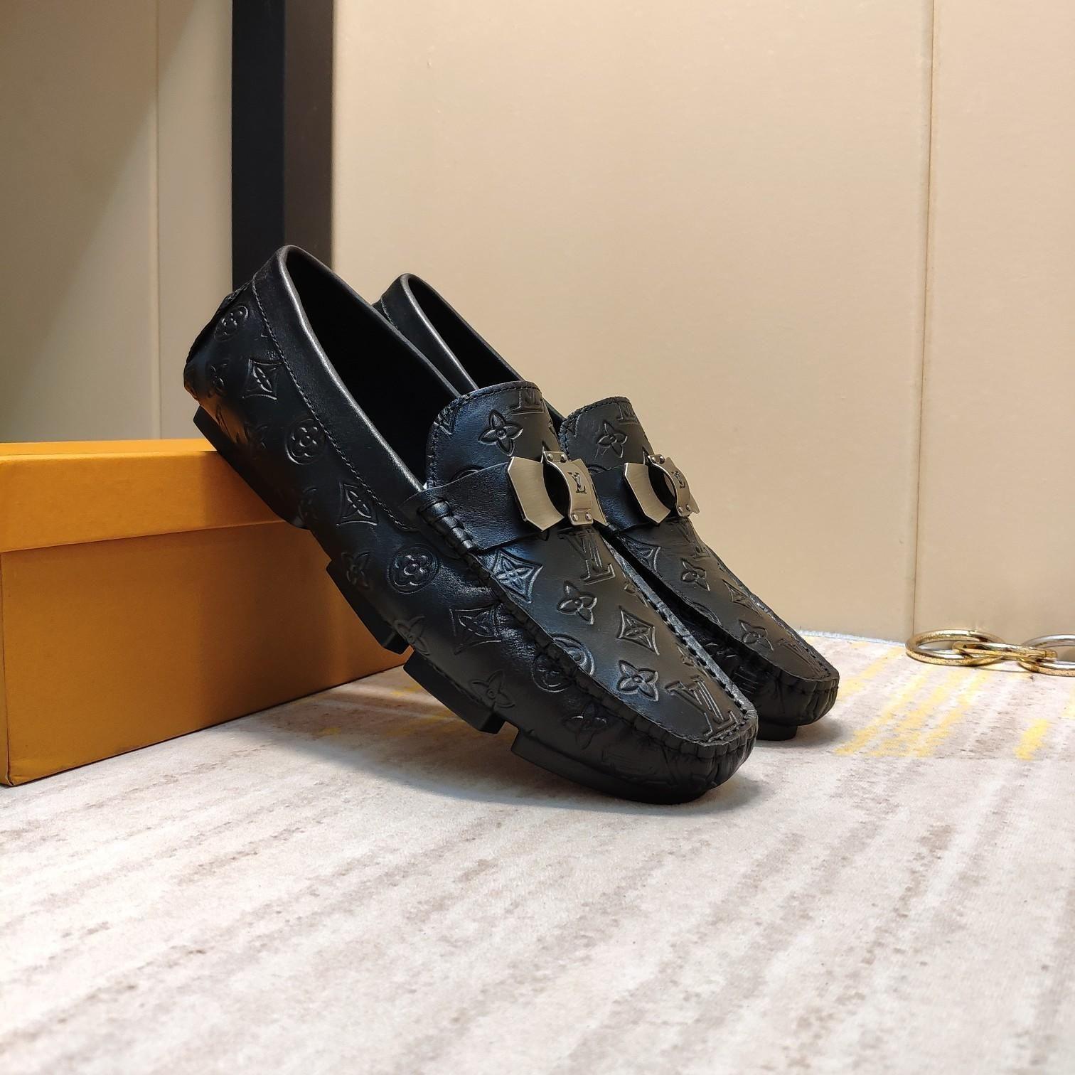 2021u Verão Tide Marca Men '; S moda ervilhas calçados casuais, versáteis confortáveis Sports preguiçosos sapatos, um conjunto completo de sapatos Original Box 38