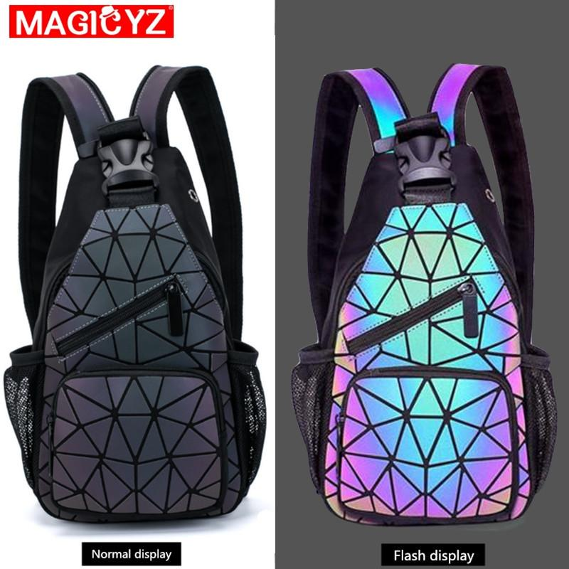 Female Chest Bags Womens Shoulder Messengers bag canvas Luminous Crossbody Bags for women Designer Pouch holographic Bag