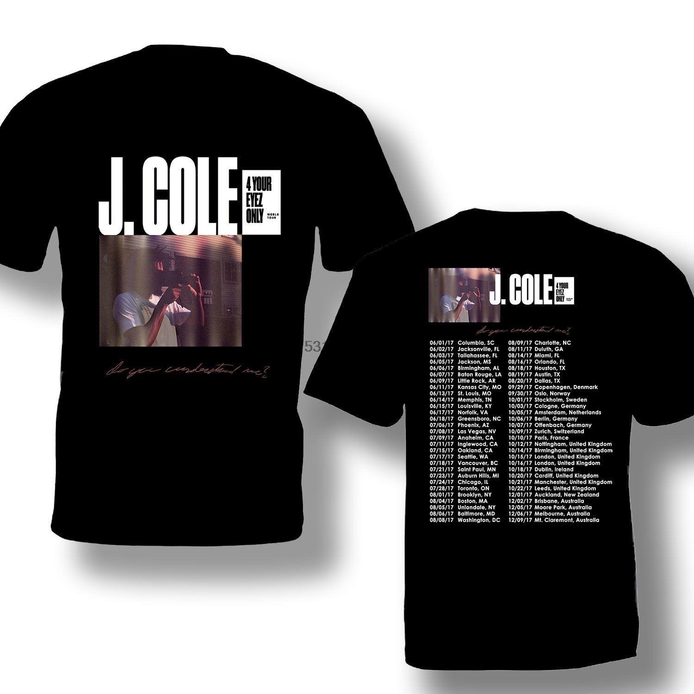 Gráfico T Shirt Design J.Cole Su Eyez Sólo camisa de algodón de moda T Circuito masculino