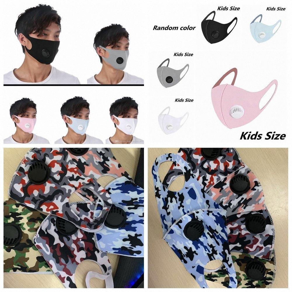 Riutilizzabile Camouflage respirazione valvola MaUnisesks bambini adulto seta del ghiaccio Bocca panno maschera anti-polvere anti inquinamento panno maschera Maschera LJJA4167 wzjg #