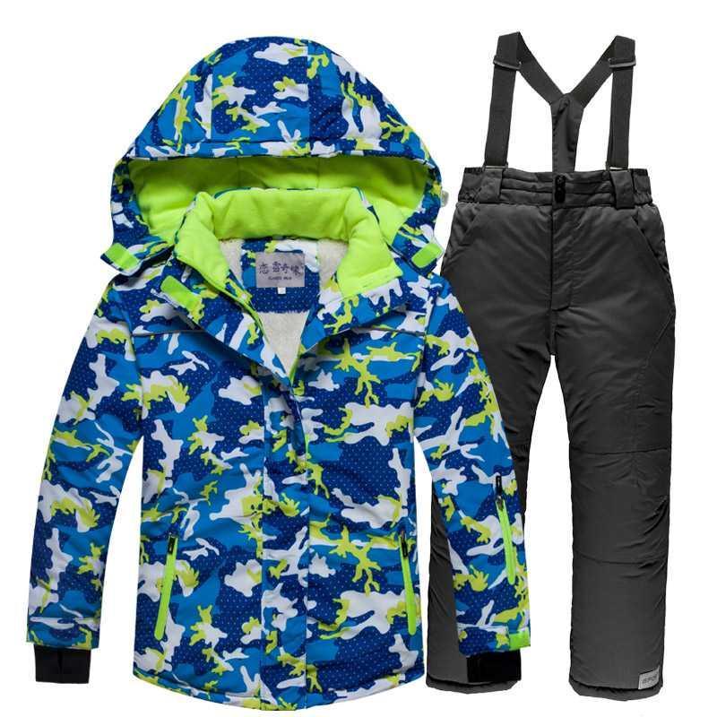2020 Kapşonlu Sıcak Erkekler Kayak Takımları Ceket tulumları Pantolon 2 PCS Adam Kar Windproof Erkek Kayak Giyim Snowboard Kabanlar ayarlar