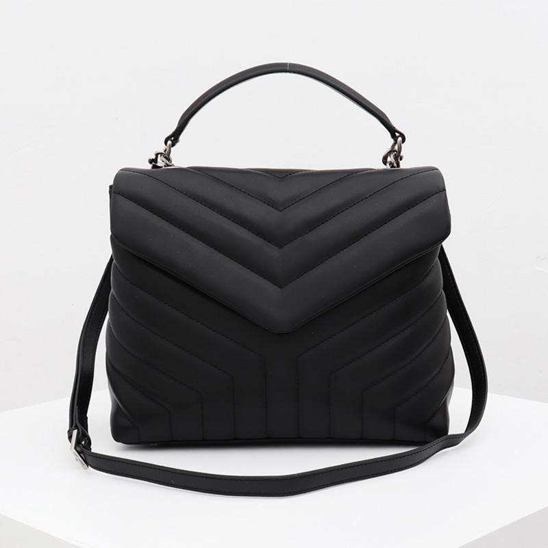 Moda bolsa carteira Messenger Bag Couro elegante Ombro Estilo bolsa acolchoado Envolva Medium Messenger Bag bolsa de couro Type4