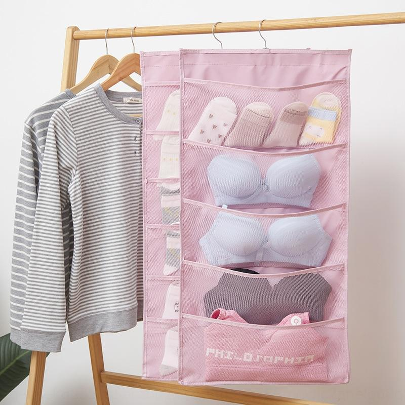 vektz Nouveau sac de rangement Oxford tissu sous-vêtements paroi de tissu de paroi suspendu stockage de soutien-gorge de sous-vêtements double face dortoir 15 grille 30 de gr