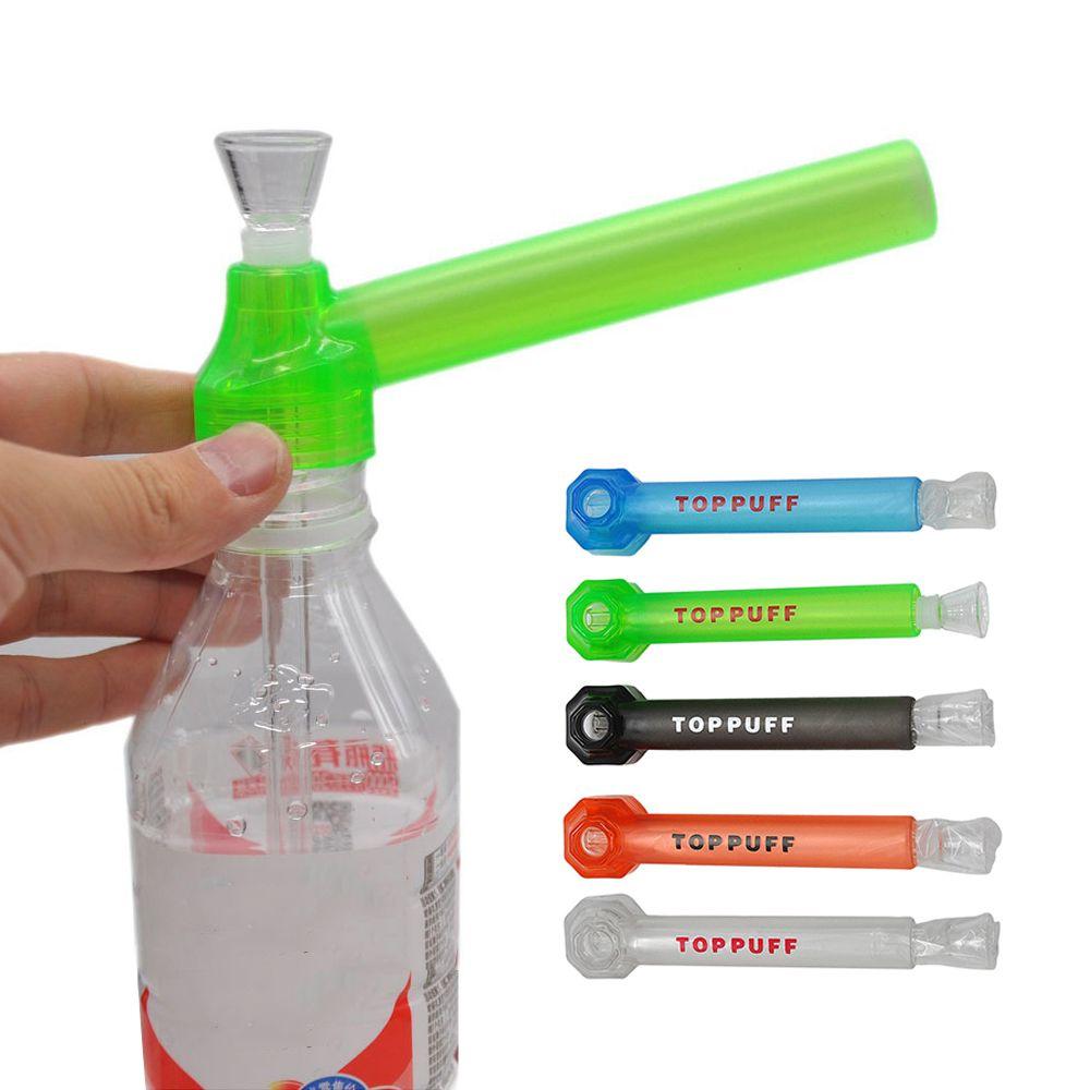 TopPuff Acrylic Bong Портативный винтовой водяной трубы стекло для курения трубы для курения табак кальян Herb Herb Держатель 5 цветов