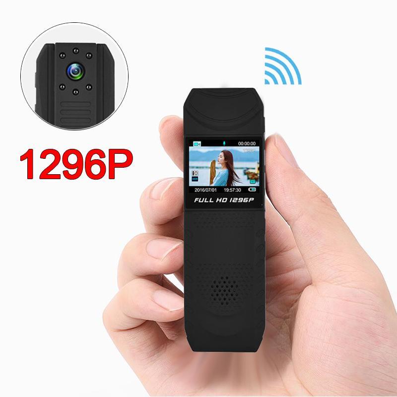كاميرا 1296P HD WIFI للرؤية الليلية البسيطة المحمولة نوفاتيك القلم Camerader DVR الجسم الشرطة Pocke حلقة مسجل البسيطة DV DVR كاميرا