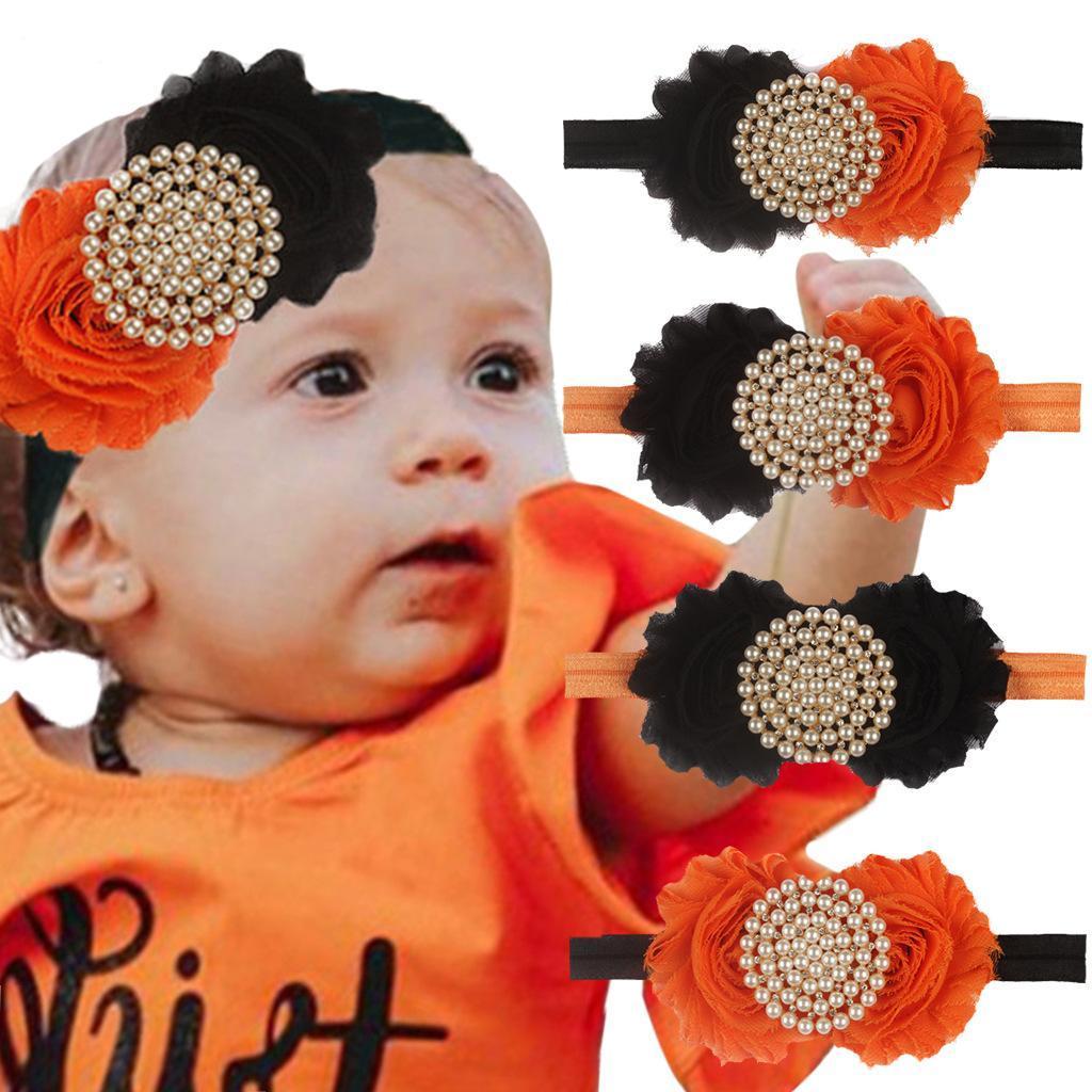 Новый Хэллоуин милый ребенок волос аксессуары дети волос группа детей цветов партия шифон драгоценность оголовье 4 цвета