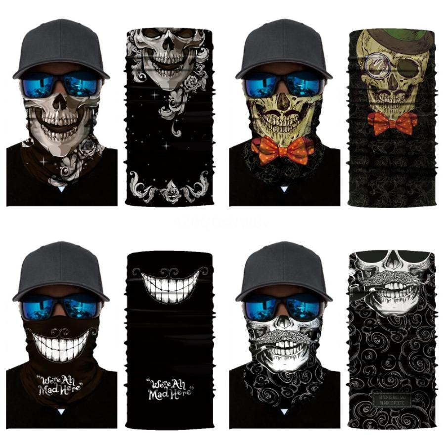 QyDDS posso non Breathe Bandana Er faccia esterna traspirante antipolvere Skull Scarf Ciclismo Maschera maschere di protezione Teschio sciarpa magica # 677