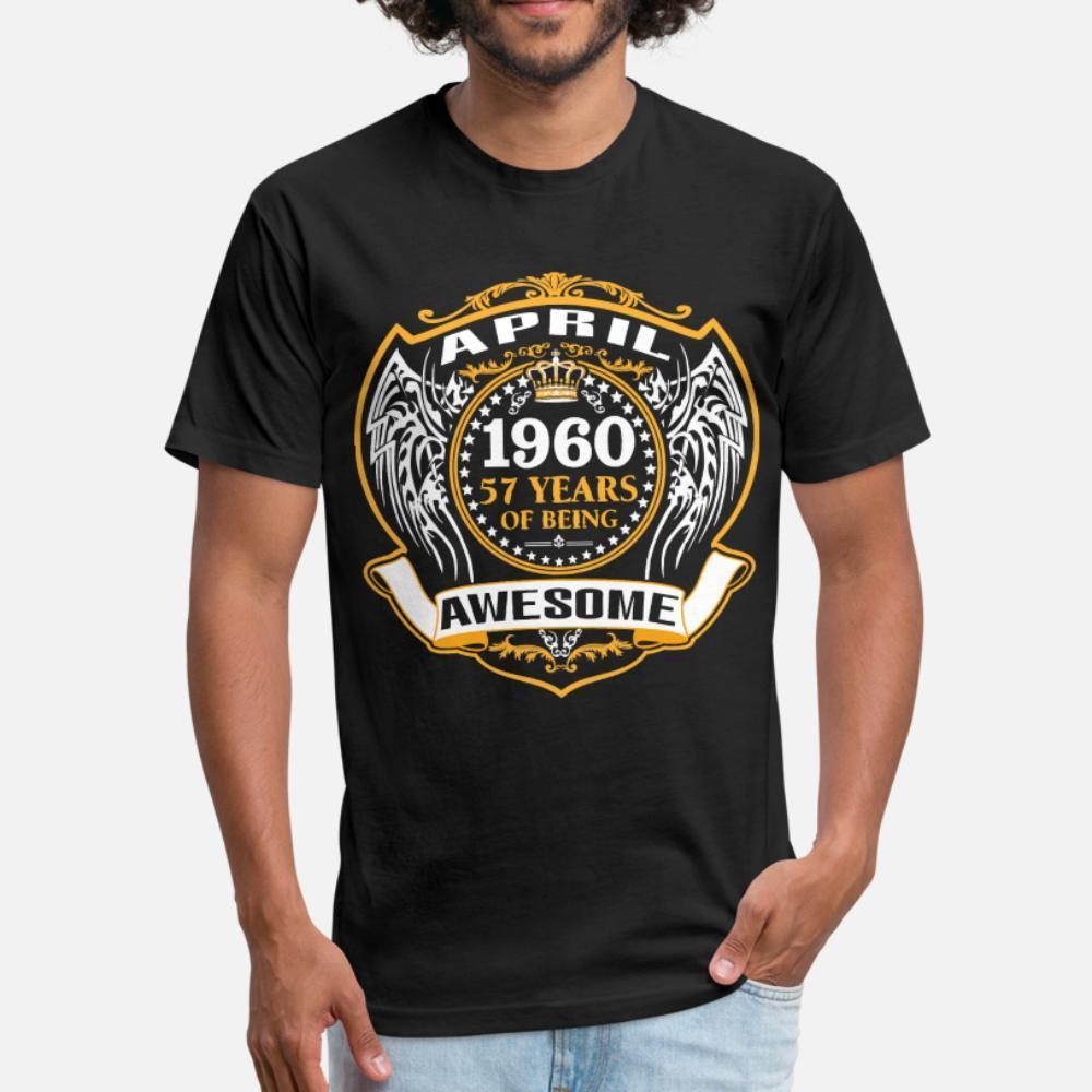 Standart Ünlü Bina Yaz Stili Standart gömlek 3XL Being Müthiş Nisan t gömlek erkekler tasarımcı tee gömlek artı boyutu Of 1960 57 yaşında