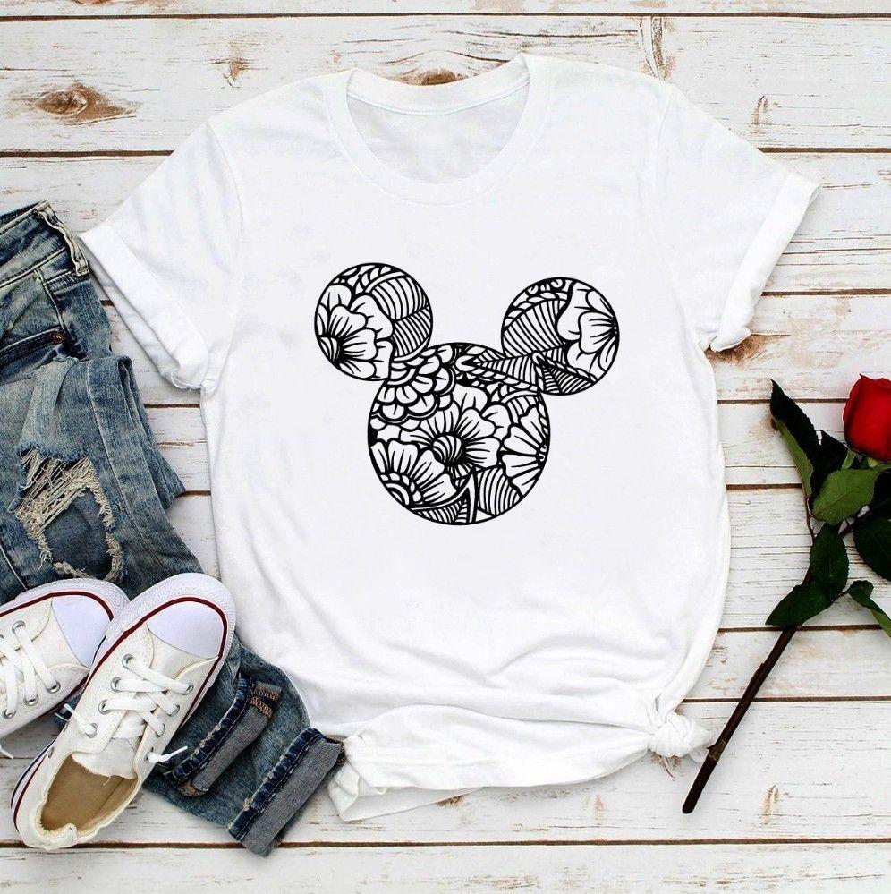 2020 été nouvelles filles mignonnes blanc casual manches courtes t-shirt femme Kawaii oreilles de souris femmes t-shirt doux
