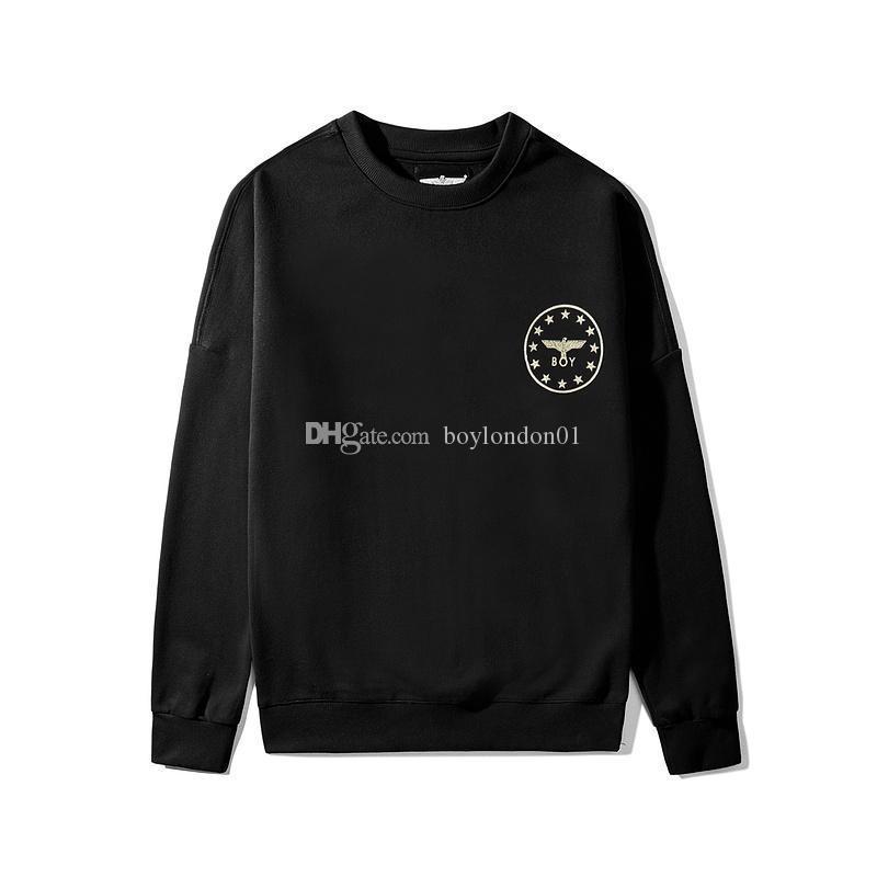 Boy London Brand New Art und Weise Mens Designer Hoodies Mens-Qualitäts-Eagle-Druck Sweatshirts Männer Frauen Paare PulloverHoodie Schwarz