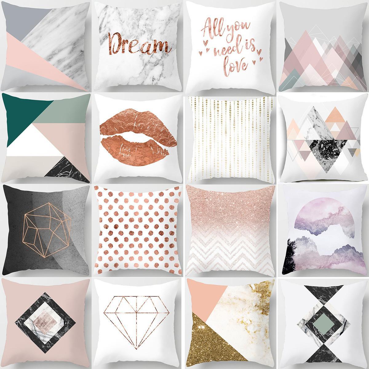 18 Stiller Modern Stil Yastık Kış Dekoru Mikro-Fibe Yastık Kapakları Kanepe Atmak Yastık Kılıfı Yastık Kapakları 45 * 45 cm L-0015 Kapakları